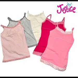 Lot of 5 justice limited too tanks lace size 14